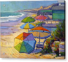 Colors Of Crystal Cove Acrylic Print
