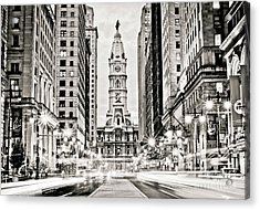 Colors On Broad B/w Acrylic Print by Stacey Granger