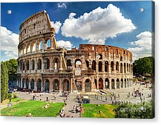 Colosseum In Rome, Italy. Ancient Roman Acrylic Print