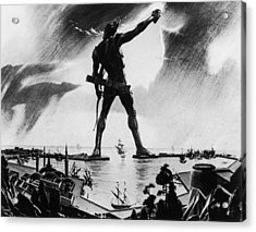 Colossus Of Rhodes Acrylic Print by Three Lions