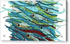 Coloured Water Fish - Digital Change 2 Acrylic Print