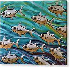 Coloured Water Fish Acrylic Print