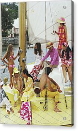 Colourful Crew Acrylic Print by Slim Aarons