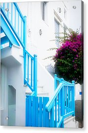 Colours Of Mykonos Acrylic Print