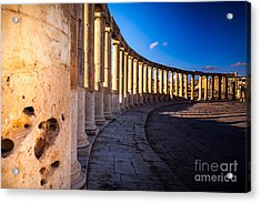 Columns  In Ancient Ruins In The Acrylic Print