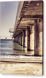 Columns Of Pier In Burgas Acrylic Print