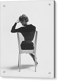 Comfort Of Chair Comes From Fact That Is Acrylic Print by Yale Joel