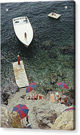 Coming Ashore Acrylic Print by Slim Aarons