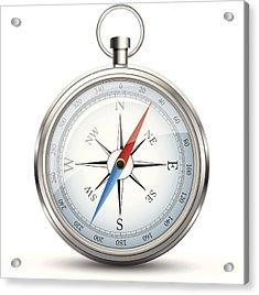 Compass Acrylic Print by Booka1