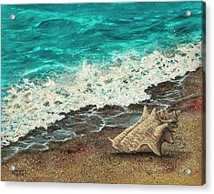 Acrylic Print featuring the painting Conch Shell by Darice Machel McGuire