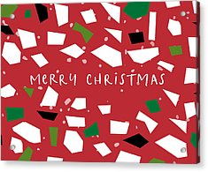 Acrylic Print featuring the digital art Confetti Christmas- Art By Linda Woods by Linda Woods