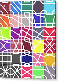 Connect 2 Colour Grid Acrylic Print