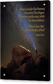 Consider The Heavens Acrylic Print