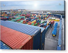 Container Dock Acrylic Print