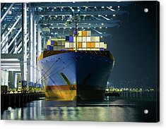 Container Ship Being Loaded Acrylic Print