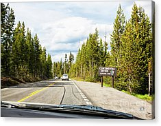 Acrylic Print featuring the photograph Continental Divide In Yellowstone National Park by Tatiana Travelways