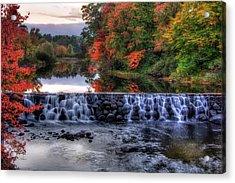 Contoocook River Reservoir  Acrylic Print by Joann Vitali