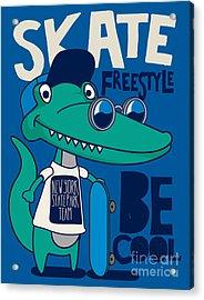 Cool, Cute Monster Crocodiles Acrylic Print