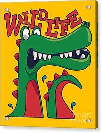 Cool, Cute Monster Crocodiles Character Acrylic Print