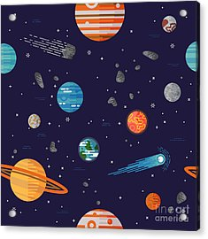 Cool Galaxy Planets And Stars Space Acrylic Print