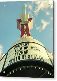Acrylic Print featuring the photograph Coolidge Corner Theatre - Brookline  by Joann Vitali