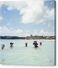 Cooling Off In Antigua Acrylic Print by Slim Aarons