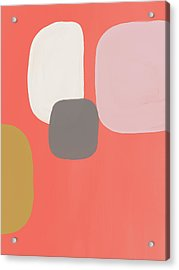 Acrylic Print featuring the mixed media Coral Stones 2- Art By Linda Woods by Linda Woods