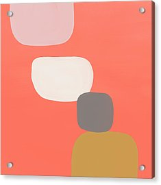 Acrylic Print featuring the mixed media Coral Stones 4- Art By Linda Woods by Linda Woods