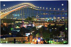 Coronado Bay Bridge Shines Brightly As An Iconic San Diego Landmark Acrylic Print