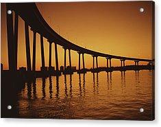 Coronado Bridge Acrylic Print by Harvey Meston