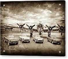 Corvettes And B17 Bomber -0027cl2 Acrylic Print