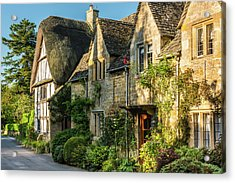 Cotswold Cottages, Stanton, Gloucestershire Acrylic Print by David Ross