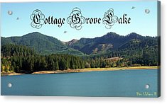 Acrylic Print featuring the photograph Cottage Grove Lake With Ufos by Ben Upham III
