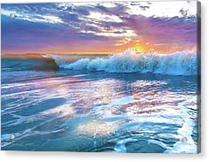 Cotton Candy Sunrise Surf Acrylic Print