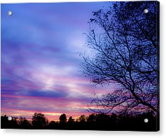 Cotton Candy Sunset In October Acrylic Print