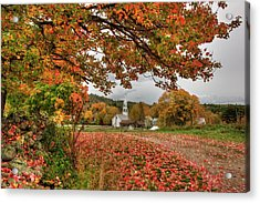Acrylic Print featuring the photograph Country Church In Autumn by Joann Vitali