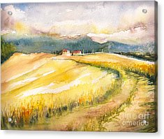 Country Landscape With Typical Tuscan Acrylic Print