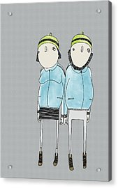 Couple Acrylic Print by Stine Kaasa Illustration