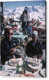 Courchevel Cafe Acrylic Print by Slim Aarons