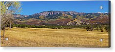 Courthouse Mountain To Baldy Peak - San Juan Large Panorama Pt1 Acrylic Print by James BO Insogna