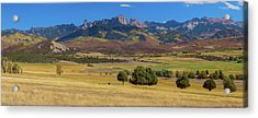 Acrylic Print featuring the photograph Courthouse Mountain To Baldy Peak - San Juan Large Panorama Pt2 by James BO Insogna