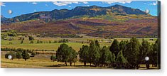 Acrylic Print featuring the photograph Courthouse Mountain To Baldy Peak - San Juan Large Panorama Pt3 by James BO Insogna