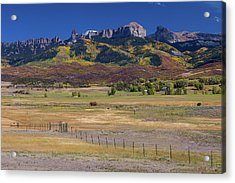 Acrylic Print featuring the photograph Courthouse Mountains And Chimney Rock Peak by James BO Insogna