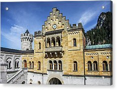 Acrylic Print featuring the photograph Courtyard, Neuschwanstein Castle by Dawn Richards