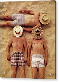 Covered Faces Acrylic Print by Tom Kelley Archive