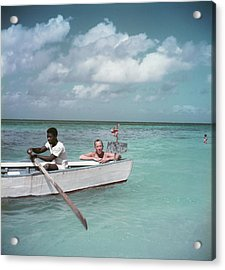 Coward Abroad Acrylic Print by Slim Aarons