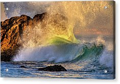 Crashing Wave Leo Carrillo Beach Acrylic Print