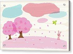 Crayon Spring Acrylic Print by Taichi k