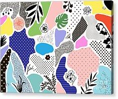 Creative Geometric Background With Acrylic Print