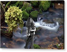 Acrylic Print featuring the photograph Creek Music #1 by Ben Upham